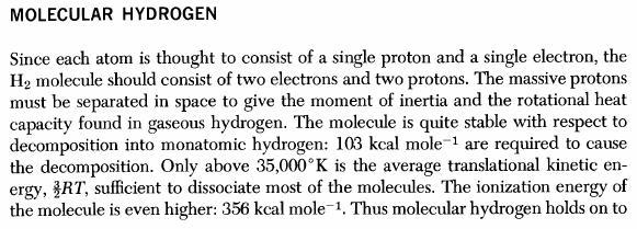 dissociazione idrogeno